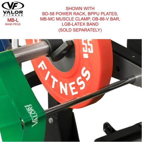 Image of Valor Fitness MB-L Band Pegs With BPPU Plates