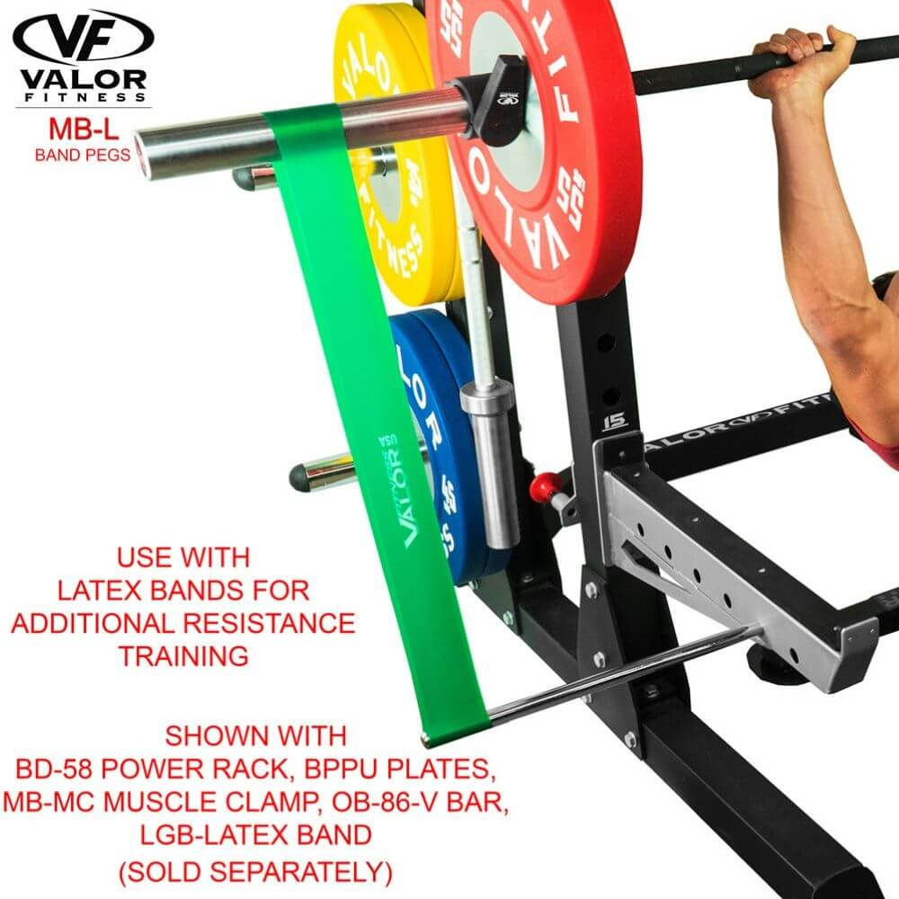 Valor Fitness MB-L Band Pegs With Latex Bands