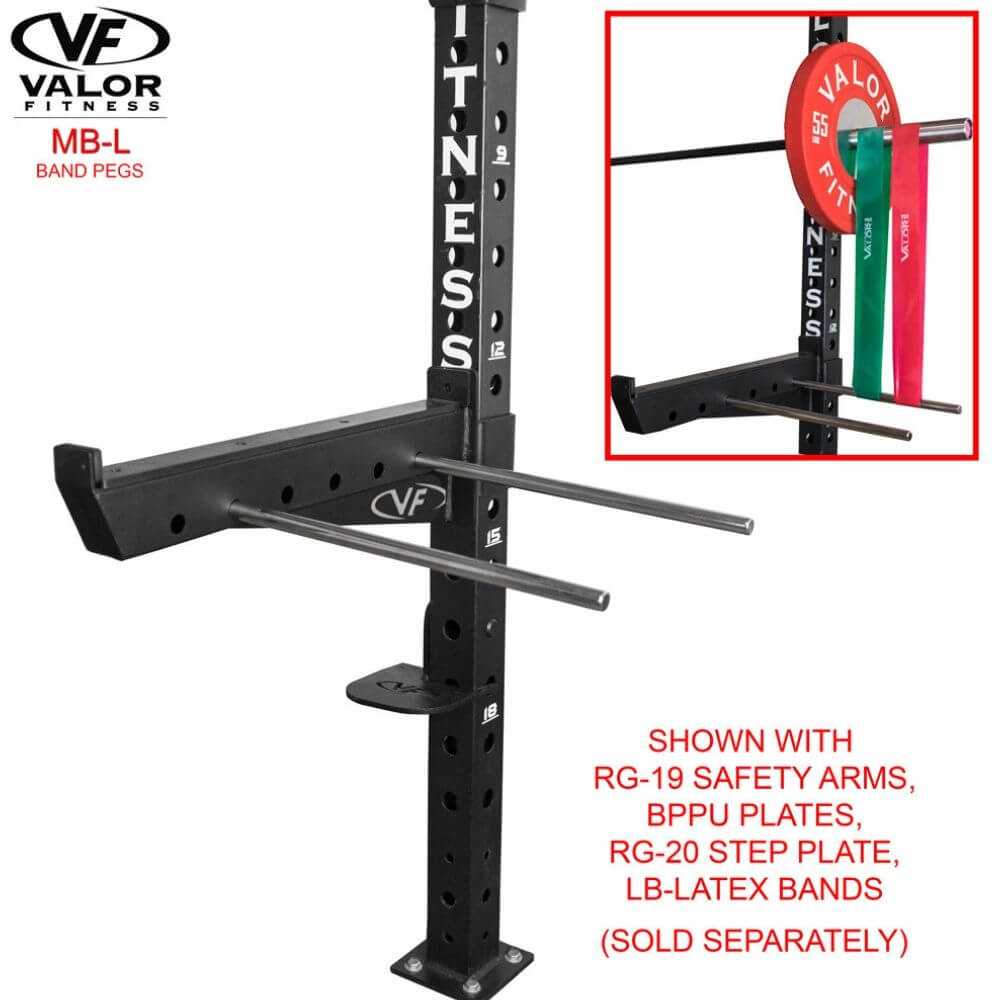 Valor Fitness MB-L Band Pegs With RG-19 Safety Arms