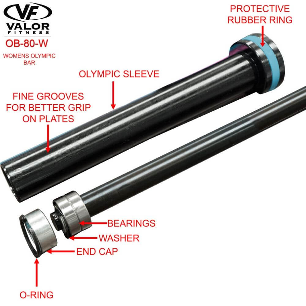 Valor Fitness OB-80-W Womans Olympic Bar Parts