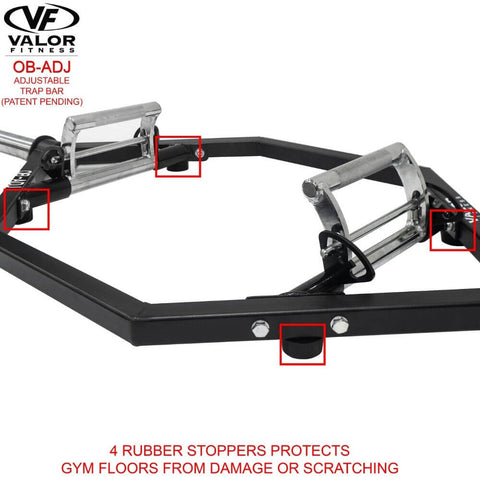 Valor Fitness OB-ADJ Adjustable Trap Bar Rubber Stopper