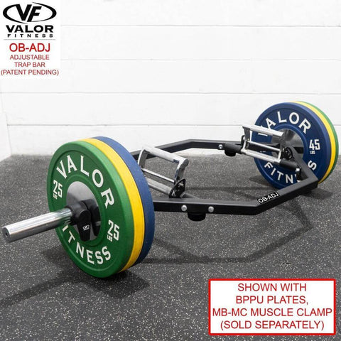 Valor Fitness OB-ADJ Adjustable Trap Bar With Muscle Clamp