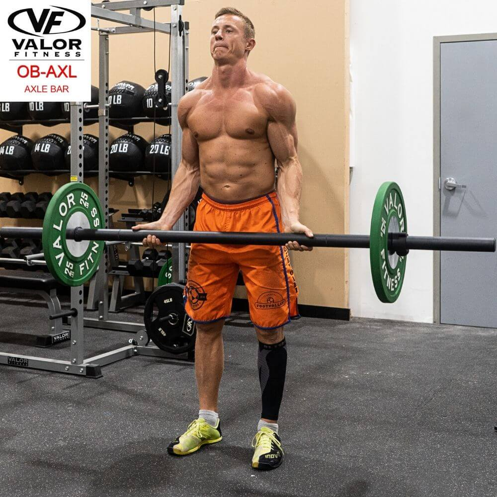 Valor Fitness OB-AXL Axle Bar Front View