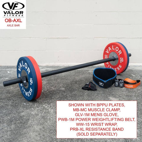 Valor Fitness OB-AXL Axle Bar With BPPU Plates