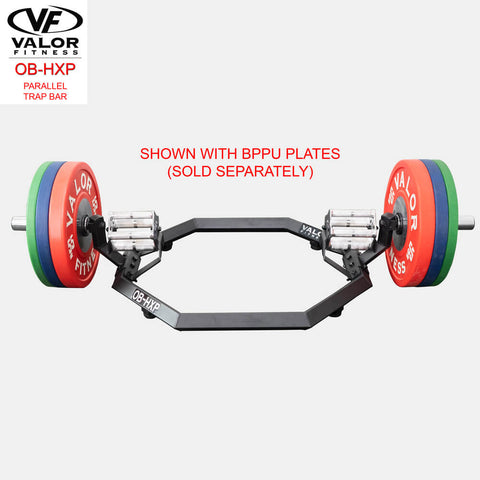 Valor Fitness OB-HXP Parallel Trap Bar Front View