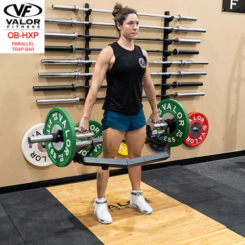 Valor Fitness OB-HXP Parallel Trap Bar Standing Female