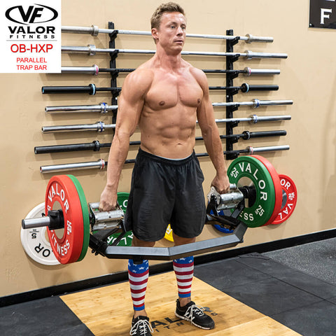 Valor Fitness OB-HXP Parallel Trap Bar Standing Male