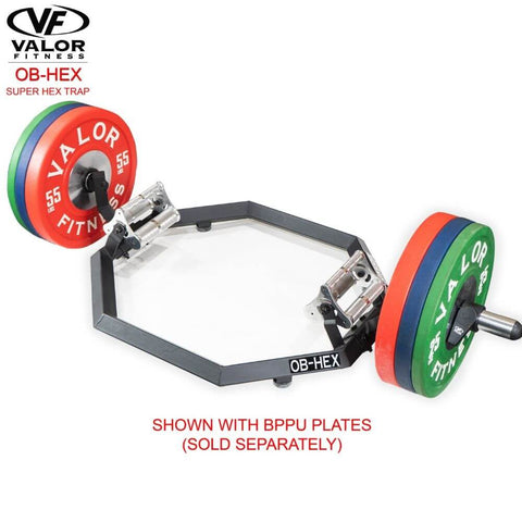 Valor Fitness OB-Hex Super Hex Trap 3D View With BPPU Plates