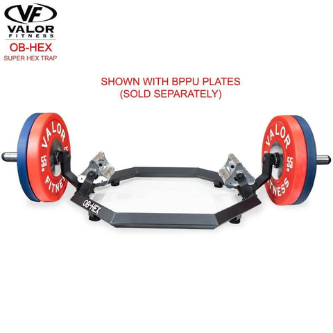 Valor Fitness OB-Hex Super Hex Trap Front View With BPPU Plates