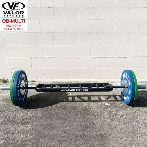 Valor Fitness OB-Multi Multi Grip Olympic Bar Front View
