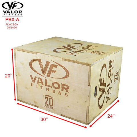 Image of Valor Fitness PBX-A Plyo Box 20_24_30 Dimension