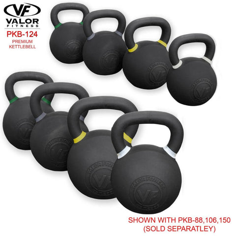 Image of Valor Fitness PKB ValorPRO Premium Kettlebells 124 Lbs Family