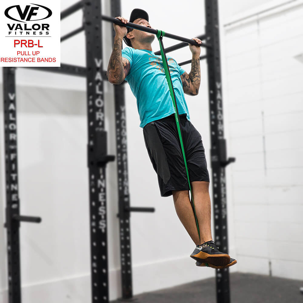 Valor Fitness PRB-L-Green Pull Up Resistance Bands Chin Up