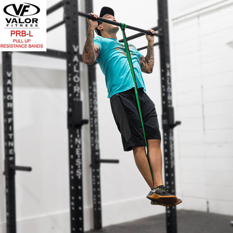 Image of Valor Fitness PRB-L-Green Pull Up Resistance Bands Chin Up