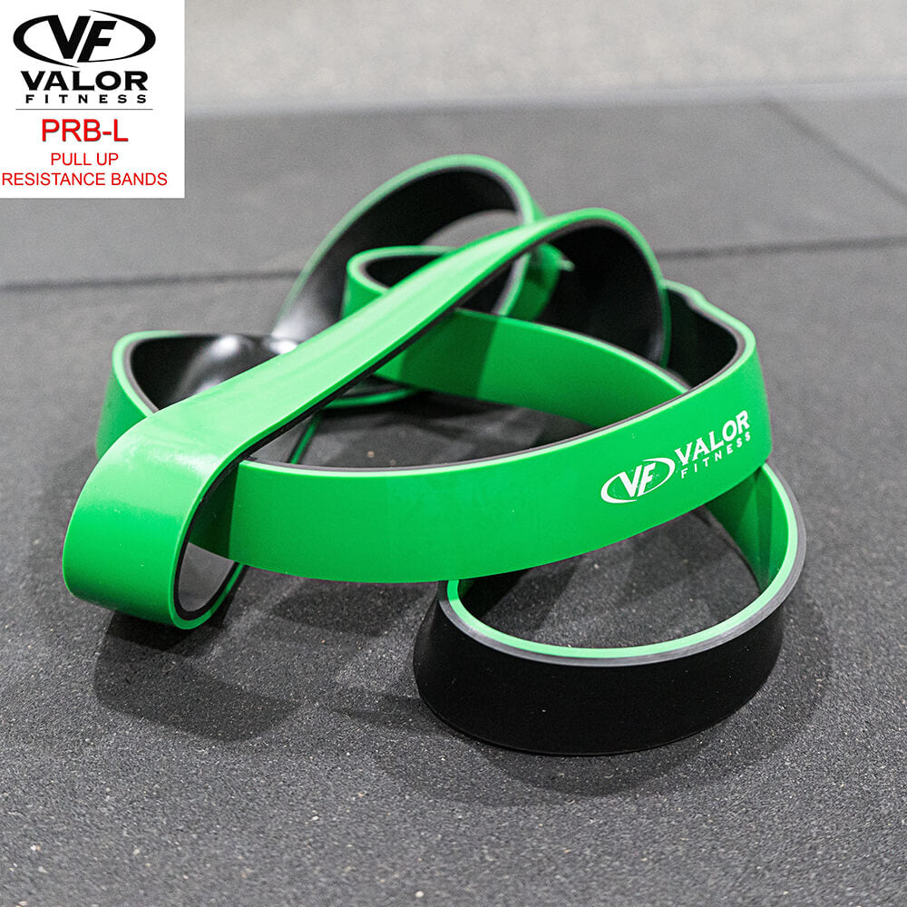 Valor Fitness PRB-L-Green Pull Up Resistance Bands Front View
