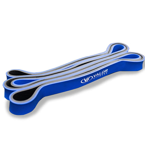 Image of Valor Fitness PRB-M-Blue Pull Up Resistance Bands 3D View