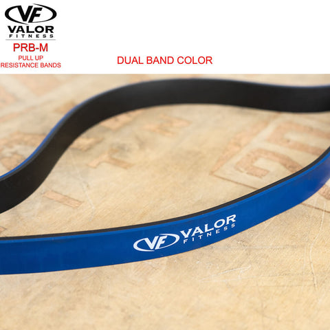 Image of Valor Fitness PRB-M-Blue Pull Up Resistance Bands Double Color Band