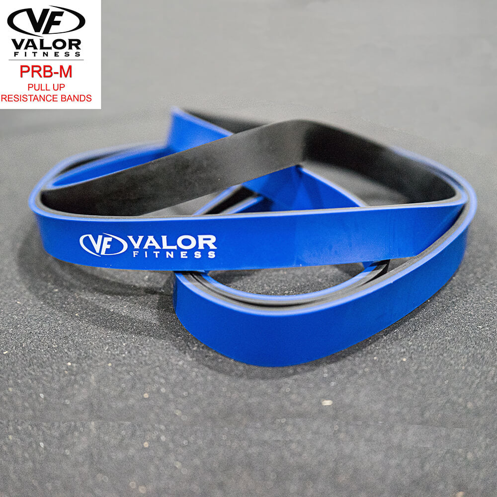 Valor Fitness PRB-M-Blue Pull Up Resistance Bands Top Front View