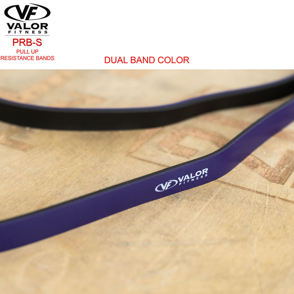 Valor Fitness PRB-S-Purple Pull Up Resistance Bands Family Dual Band Color-min