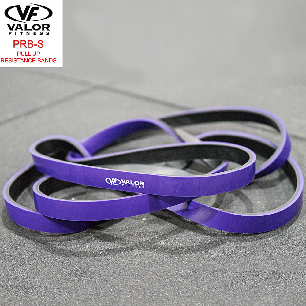 Valor Fitness PRB-S-Purple Pull Up Resistance Bands Family Front View-min