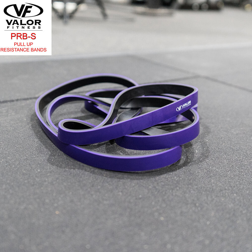 Valor Fitness PRB-S-Purple Pull Up Resistance Bands Family Top Front View-min