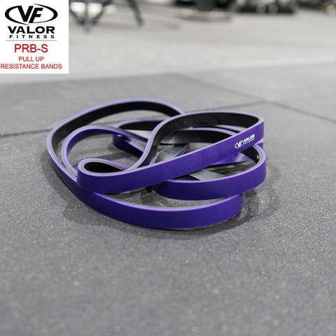 Image of Valor Fitness PRB-S-Purple Pull Up Resistance Bands Family Top Front View-min