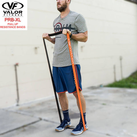 Image of Valor Fitness PRB-XL-Orange Pull Up Resistance Bands Bicep Curl