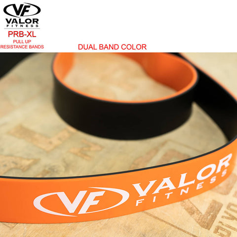 Image of Valor Fitness PRB-XL-Orange Pull Up Resistance Bands Double Color Band