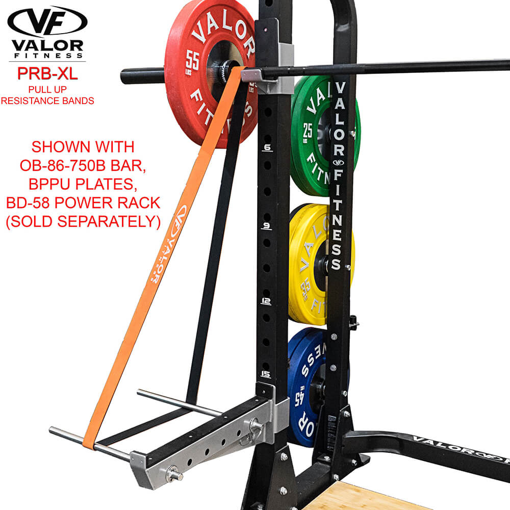 Valor Fitness PRB-XL-Orange Pull Up Resistance Bands Power Rack