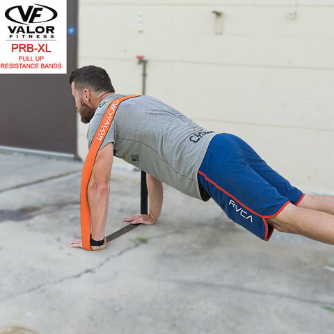 Image of Valor Fitness PRB-XL-Orange Pull Up Resistance Bands Push Up