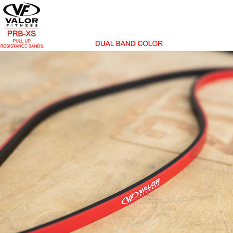 Image of Valor Fitness PRB-XS-Red Pull Up Resistance Bands Dual Color Band