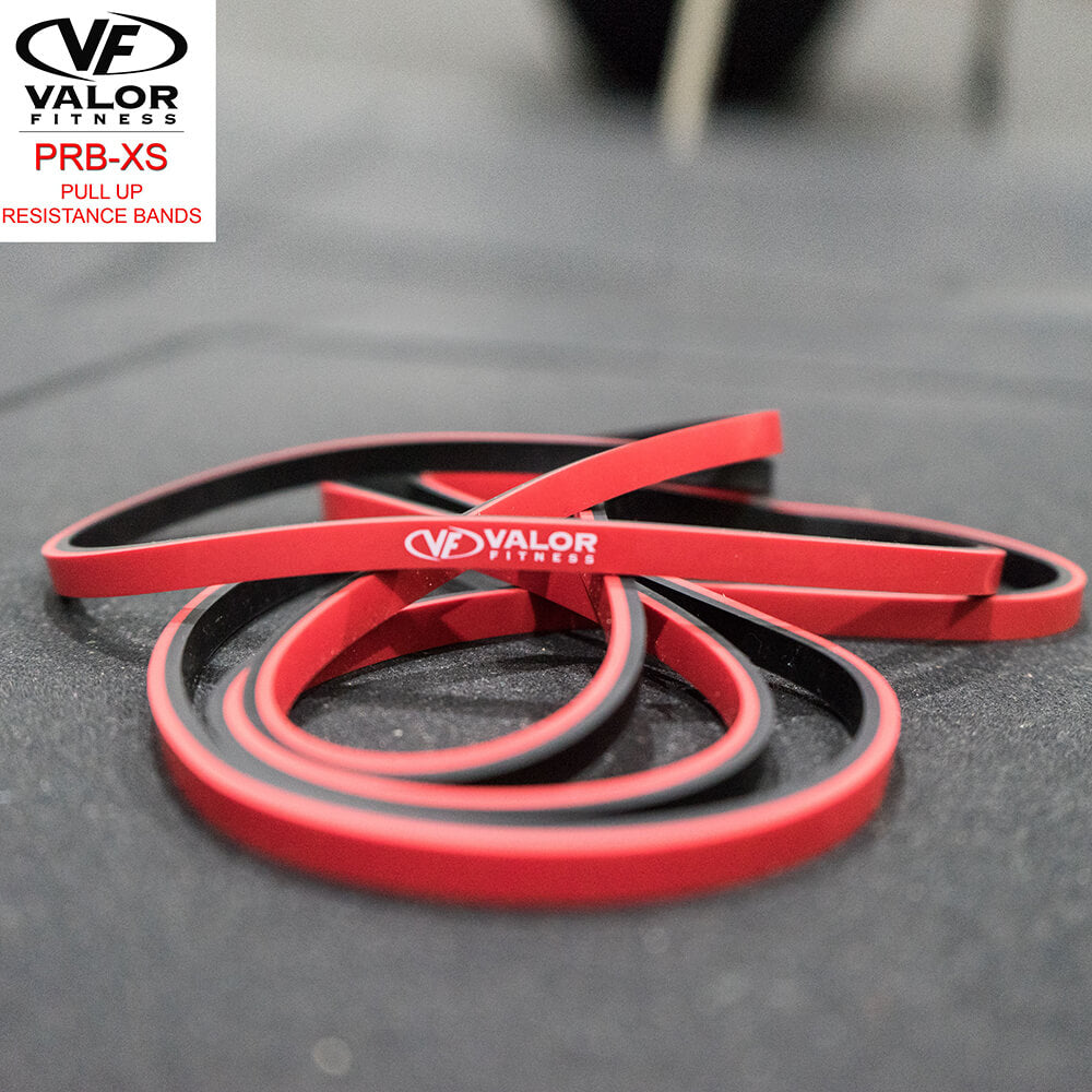 Valor Fitness PRB-XS-Red Pull Up Resistance Bands Front View