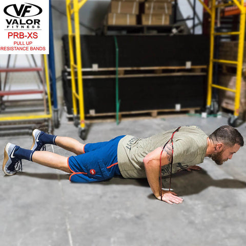 Image of Valor Fitness PRB-XS-Red Pull Up Resistance Bands Push Up