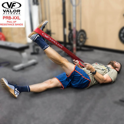Image of Valor Fitness PRB-XXL-Red Pull Up Resistance Bands Leg Stretch