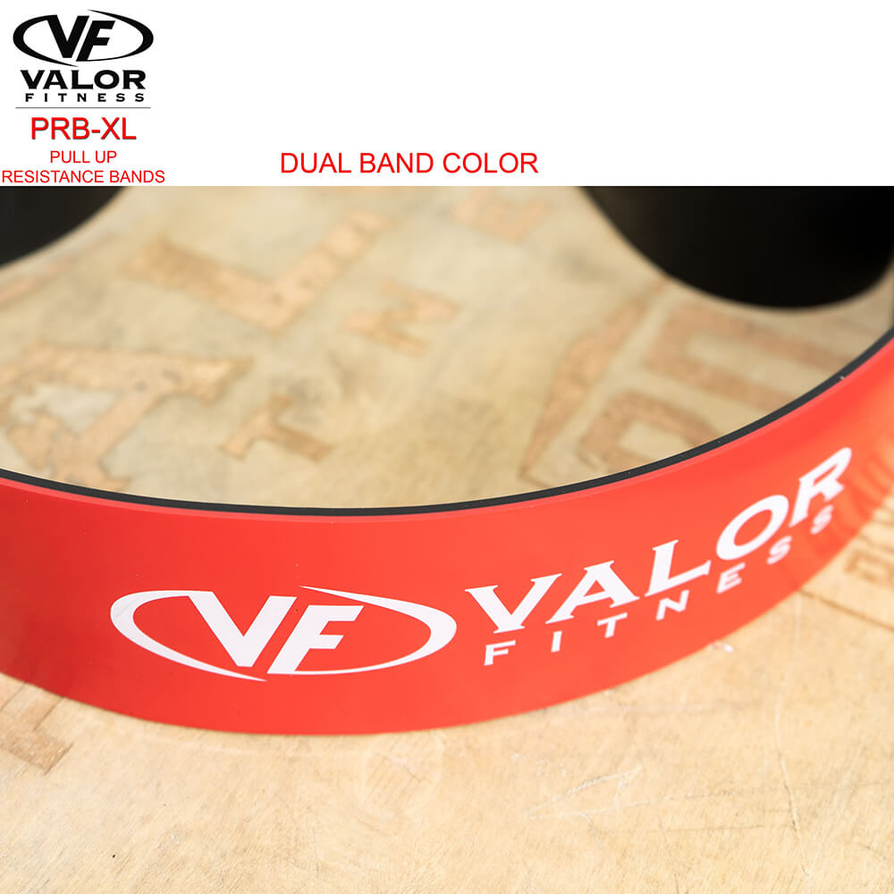 Valor Fitness PRB-XXL-Red Pull Up Resistance Bands Top View