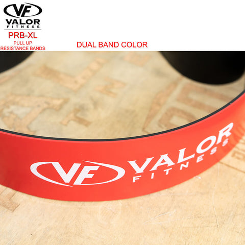Image of Valor Fitness PRB-XXL-Red Pull Up Resistance Bands Top View