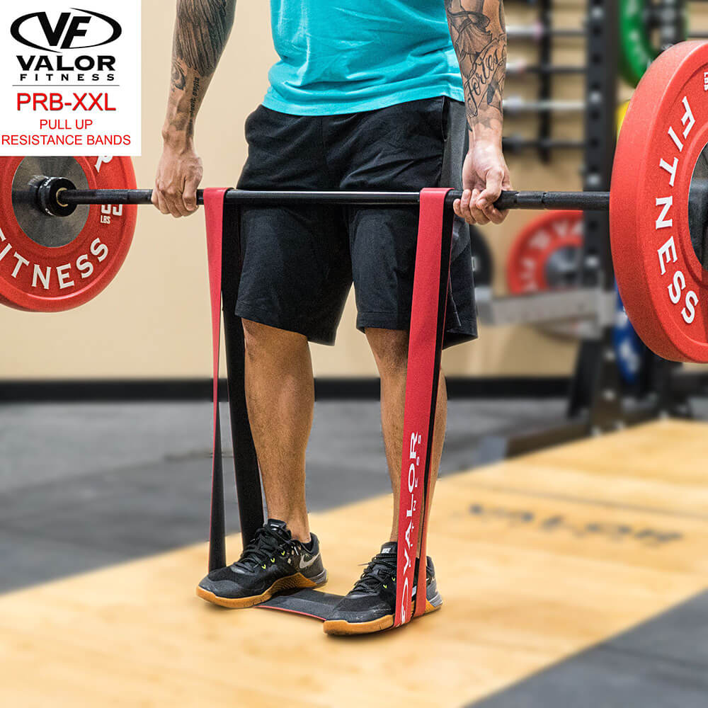 Valor Fitness PRB-XXL-Red Pull Up Resistance Bands Weight Lifting