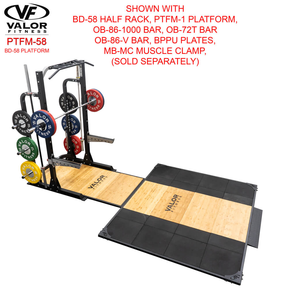 Valor Fitness PTFM-58 BD-58 Platform With Muscle Clamp