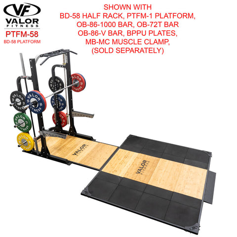 Image of Valor Fitness PTFM-58 BD-58 Platform With Muscle Clamp
