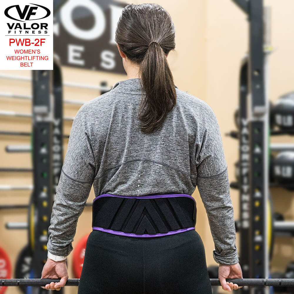 Valor Fitness PWB-2F Womens Power Weightlifting Belt Back View