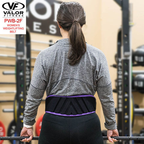 Image of Valor Fitness PWB-2F Womens Power Weightlifting Belt Back View