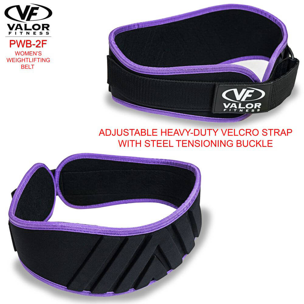 Valor Fitness PWB-2F Womens Power Weightlifting Belt Front And back view