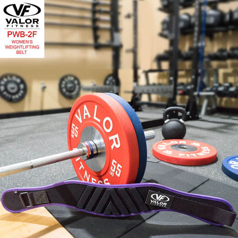Image of Valor Fitness PWB-2F Womens Power Weightlifting Belt With Plate