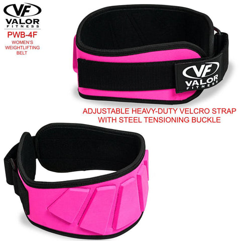 Image of Valor Fitness PWB-4F Womens Power Weightlifting Belt Back And Front