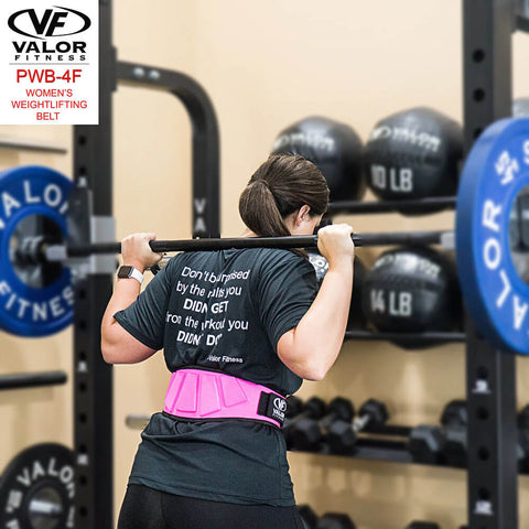 Image of Valor Fitness PWB-4F Womens Power Weightlifting Belt Back Side View