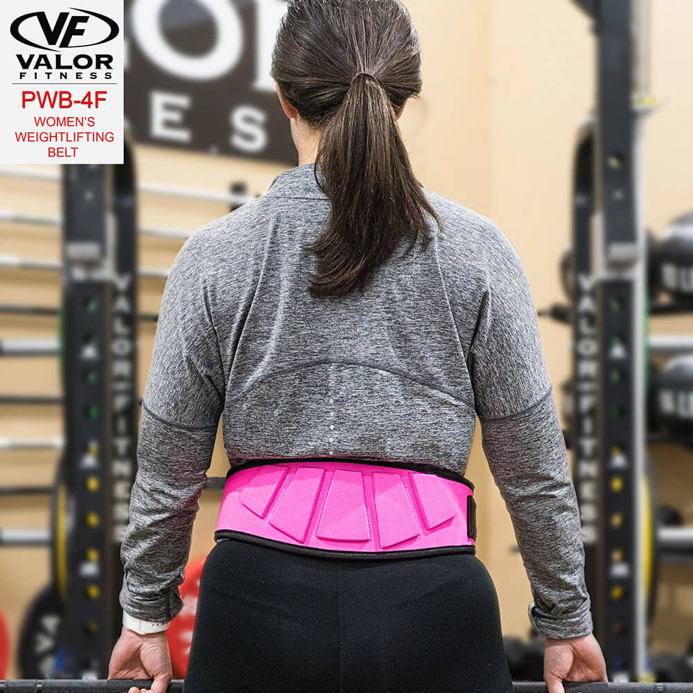 Valor Fitness PWB-4F Womens Power Weightlifting Belt Back View