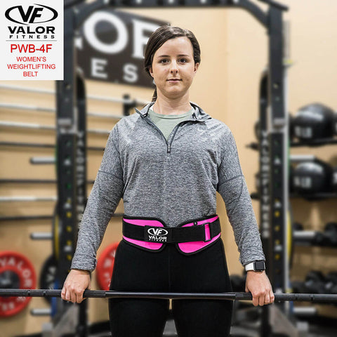 Image of Valor Fitness PWB-4F Womens Power Weightlifting Belt Front View