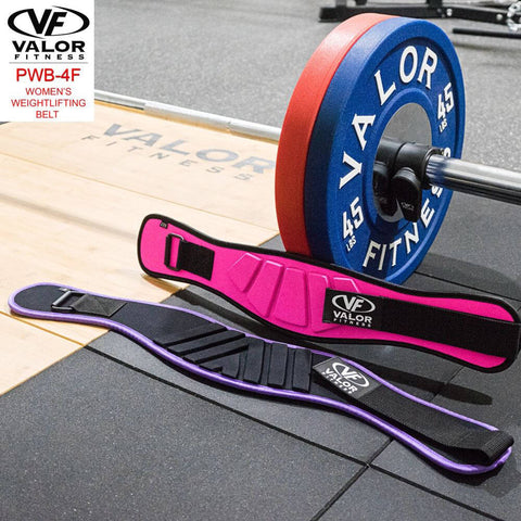 Image of Valor Fitness PWB-4F Womens Power Weightlifting Belt With Plates