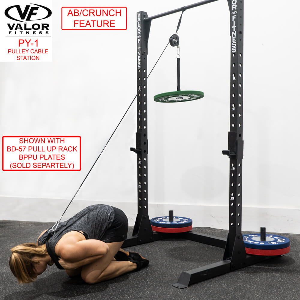 Valor Fitness PY-1 Pulley Cable Station AbCrunch Feature