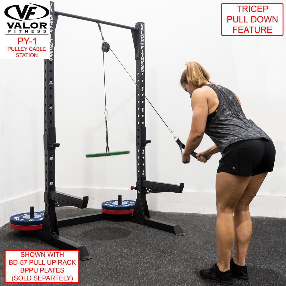 Valor Fitness PY-1 Pulley Cable Station Triceps Pull Down